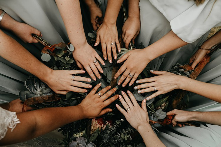 Nails Rings Bride Bridesmaids Rustic Greenery Copper Chateau Wedding in France http://hindmari.com/