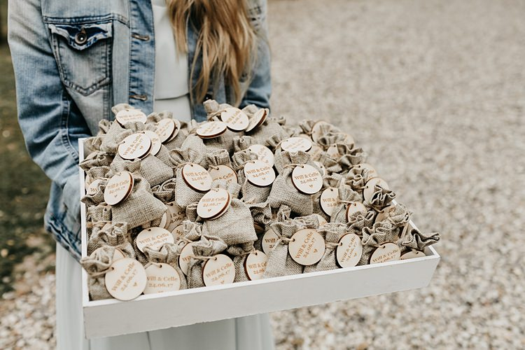 Favour Bags Rustic Greenery Copper Chateau Wedding in France http://hindmari.com/