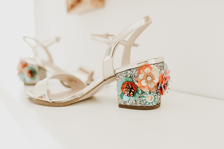 Sequin Floral Shoes Bride Bridal Rustic Greenery Copper Chateau Wedding in France http://hindmari.com/