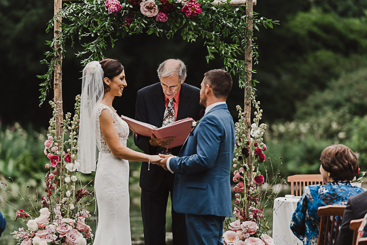 Stylish Woodland Tipi Wedding Flower Arch https://willpatrickweddings.com/