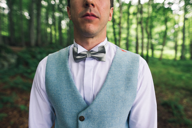 Bow Tie Waistcoat Groom Outdoorsy Welcoming Colourful Tipi Wedding http://www.sallytphoto.com/