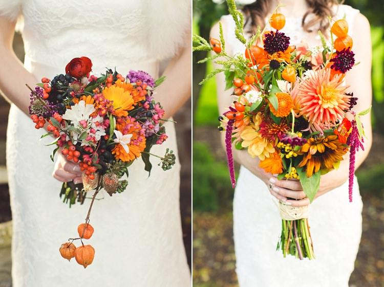 Chinese Lantern Wedding Bouquet Flowers Autumn