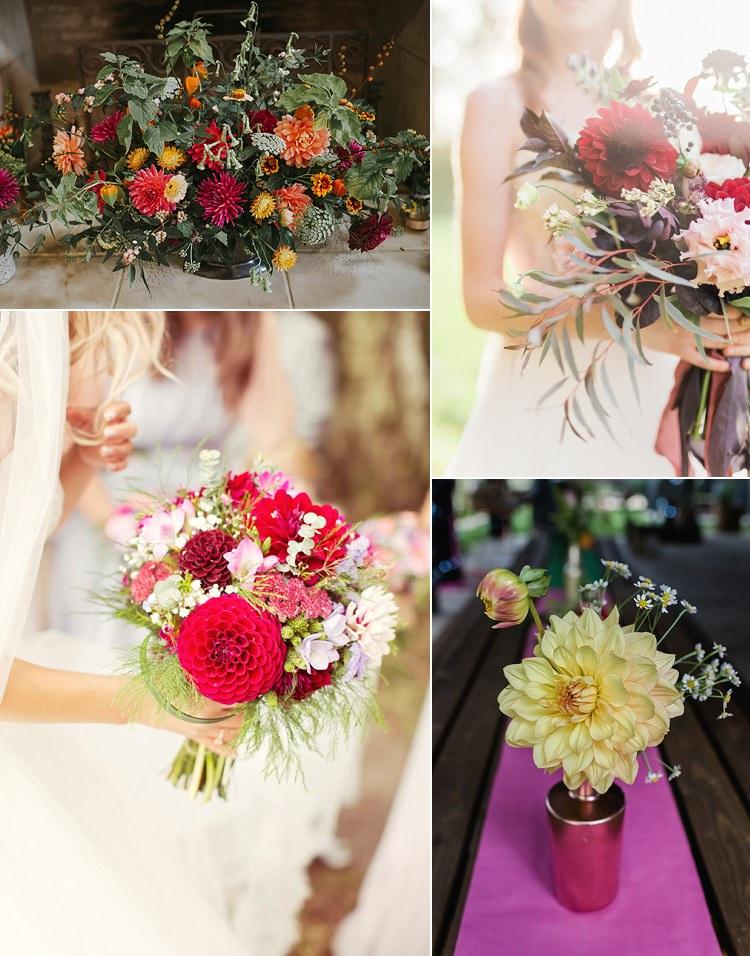 Dahlia Wedding Bouquet Flowers Autumn