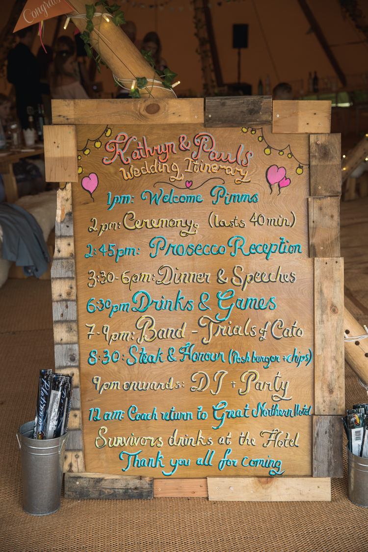 Wooden Rustic Painted Sign Order Day Events Boho Festival Tipi Wedding http://alexaclarkekent.com/