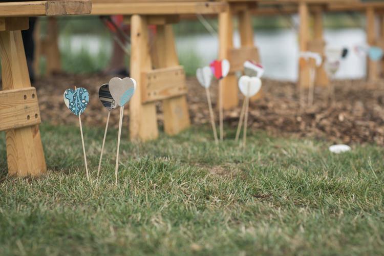 Heart Sticks Aisle Ceremony Boho Festival Tipi Wedding http://alexaclarkekent.com/