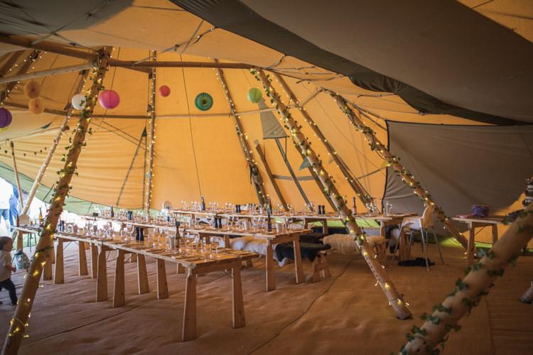 Fairy Lights Bunting Boho Festival Tipi Wedding http://alexaclarkekent.com/
