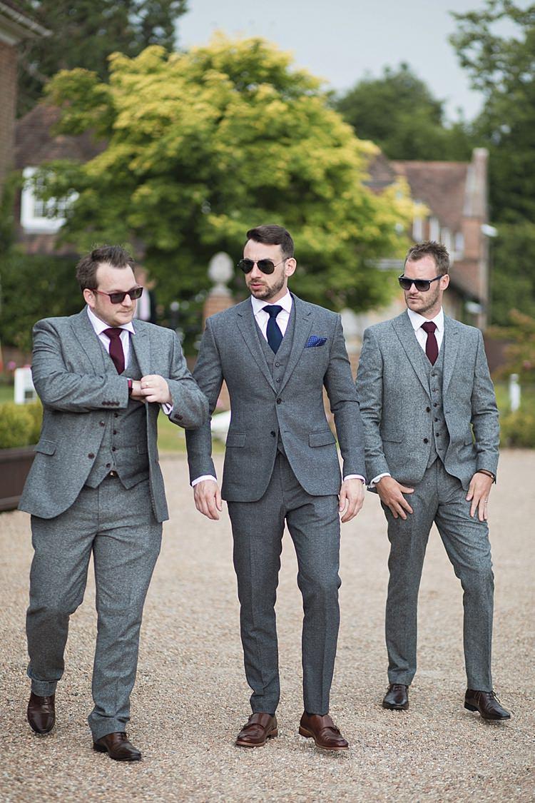 Reiss Groom Groomsmen Next Grey Three Piece Wool Waistcoat Burgundy Blue Pocket Square Classic Romantic Pretty Wedding https://kerryannduffy.com/