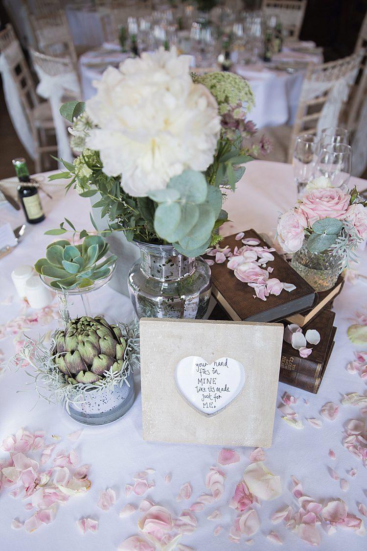Table Centre Vintage Books Frame Succulents Peonies Roses Vase Petals Classic Romantic Pretty Wedding https://kerryannduffy.com/