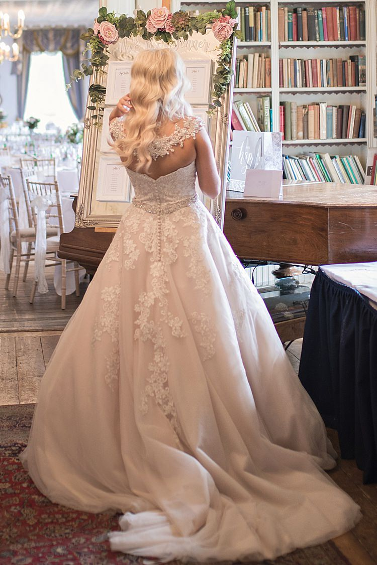 Bride Bridal Dress Gown Ronald Joyce Strapless Sweetheart Crystal Swarovski Shoulder Necklace Blush Classic Romantic Pretty Wedding https://kerryannduffy.com/