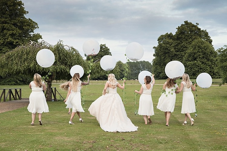 Oversize Giant White Balloon 2ft Bride Bridesmaids Ivy Classic Romantic Pretty Wedding https://kerryannduffy.com/