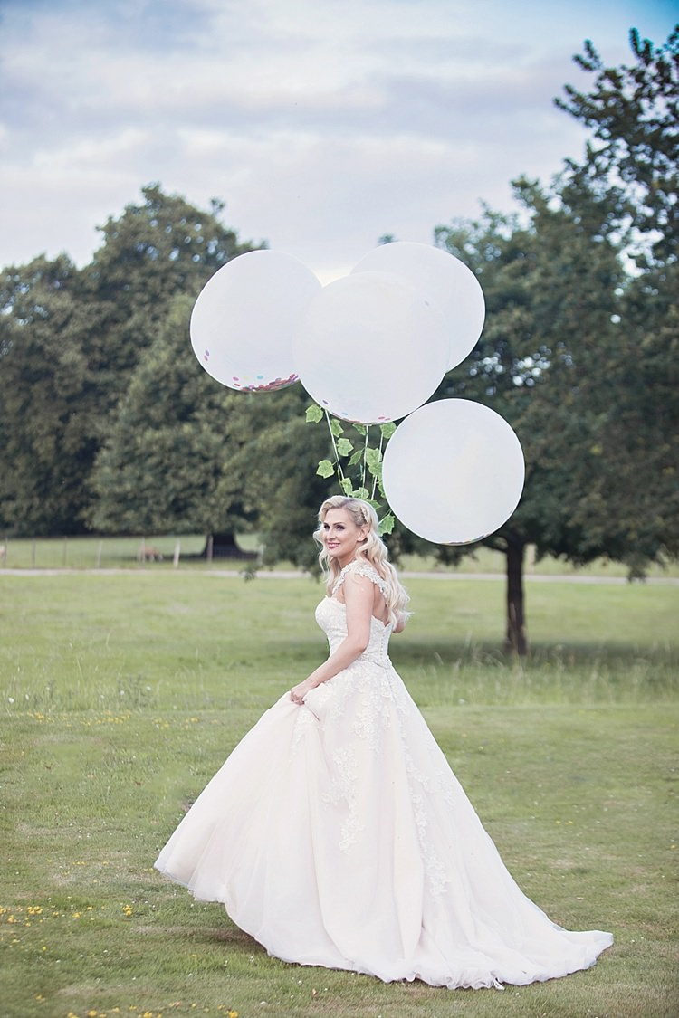 Bride Bridal Dress Gown Ronald Joyce Strapless Sweetheart Crystal Swarovski Shoulder Necklace Blush Giant Oversize Balloon White Ivy Classic Romantic Pretty Wedding https://kerryannduffy.com/