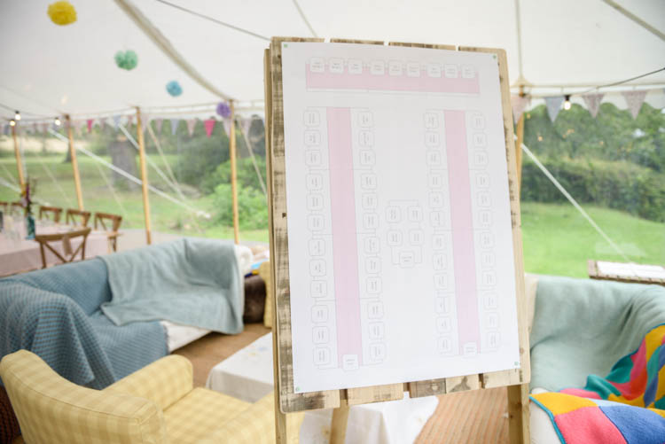Table Plan Seating Chart Wooden Fun Pastel Country Marquee Wedding http://kimberleywaterson.com/