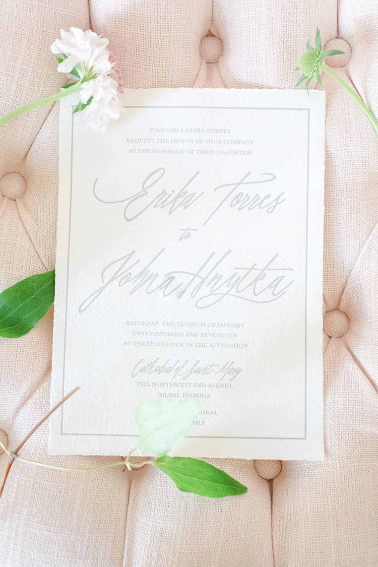 Stationery Invites Invitations Grey Neutral Calligraphy Light Soft Romantic Wedding Ideas http://www.vanessavelez.photo/