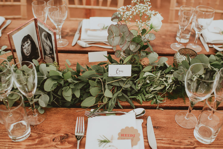 Foliage Garland Table Runner Decor Rustic Greenery White Apple Orchard Wedding http://bigbouquet.co.uk/