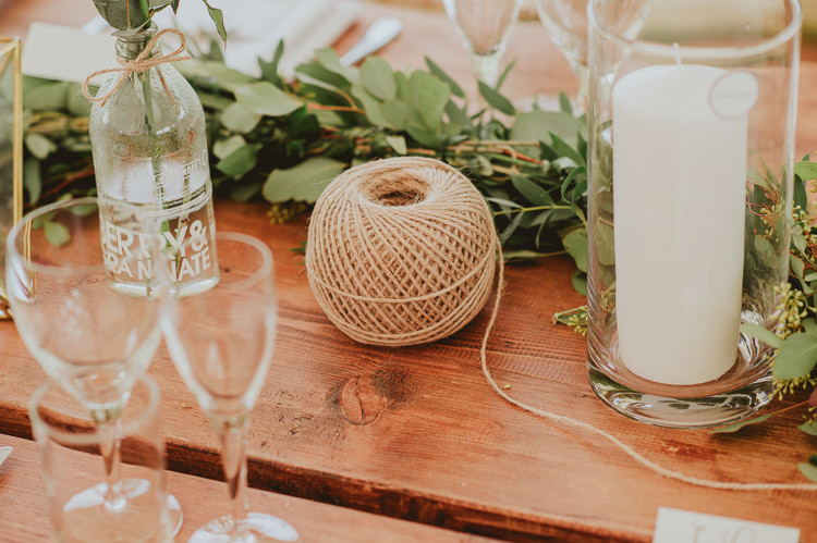 Twine Candles Rustic Greenery White Apple Orchard Wedding http://bigbouquet.co.uk/