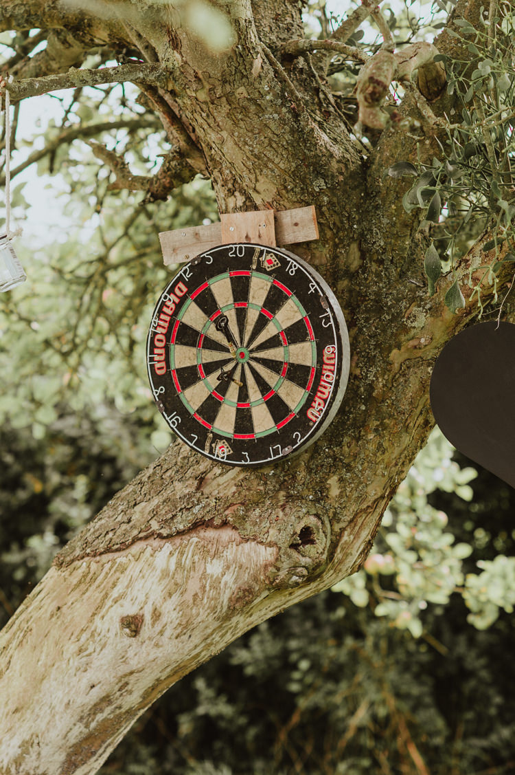 Darts Game Rustic Greenery White Apple Orchard Wedding http://bigbouquet.co.uk/