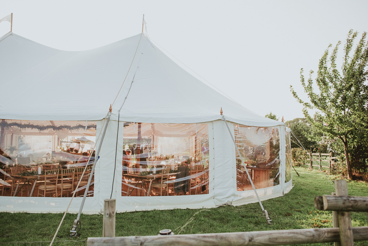 Marquee Tent Rustic Greenery White Apple Orchard Wedding http://bigbouquet.co.uk/