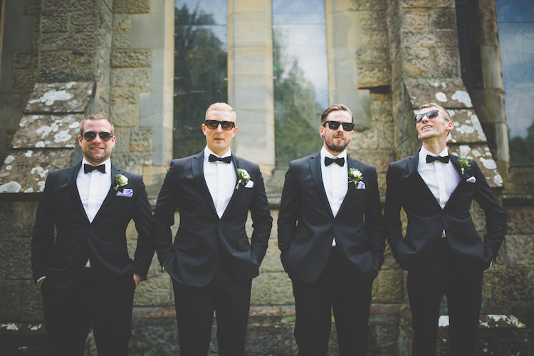 Groom Groomsmen Bow Tie Tuxedo Powder Blue Pocket Square Black Tie Glamour Country Estate Wedding https://www.chrisblackledgephotography.co.uk/