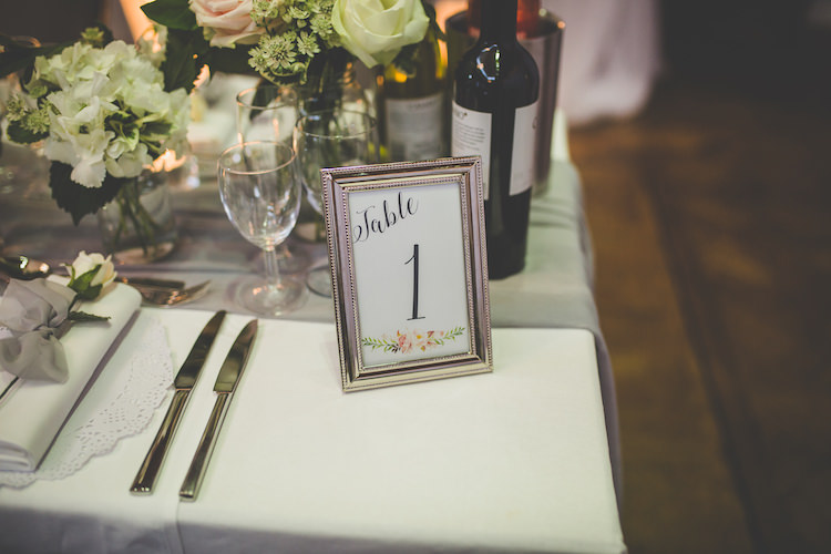 Table Number Modern Calligraphy Florals Flower White Pink Blush Grey Voile Doily Setting Place Black Tie Glamour Country Estate Wedding https://www.chrisblackledgephotography.co.uk/