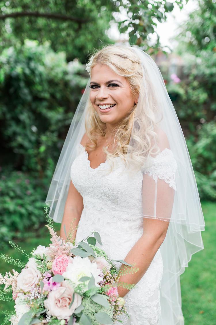 Bride Bridal Lace Dress Gown Veil Blusher Simple Natural Honest Marquee Wedding https://www.gemmagiorgio.com/