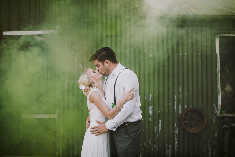 Smoke Bomb Wedding Portraits Images Photographs http://www.loveluella.co.uk/