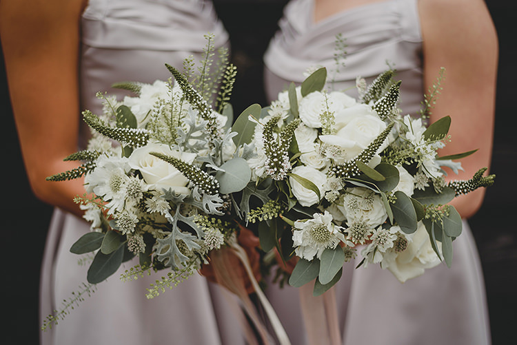 White Rose Greenery Foliage Bouquets Vintage Retro Inspired Pastel Wedding https://www.georgiarachael.com/