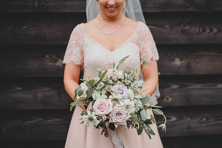 Pink Rose Bouquet Greenery Foliage Vintage Retro Inspired Pastel Wedding https://www.georgiarachael.com/
