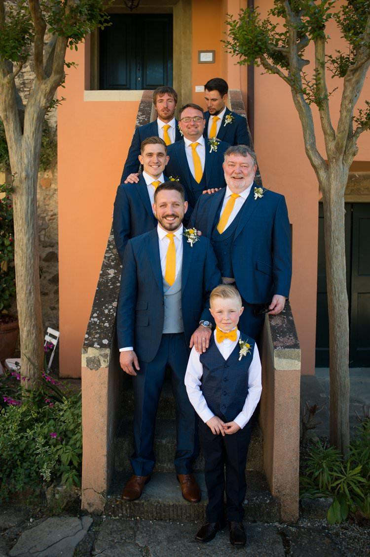 Groomsmen Page Boy Bowtie Yellow Navy Outdoor Tuscany Wedding http://www.natalymontanari.com/