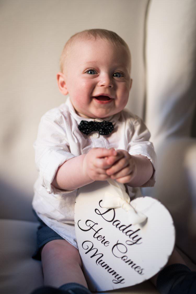 Baby Son Pageboy Bow Tie Yellow Navy Outdoor Tuscany Wedding http://www.natalymontanari.com/