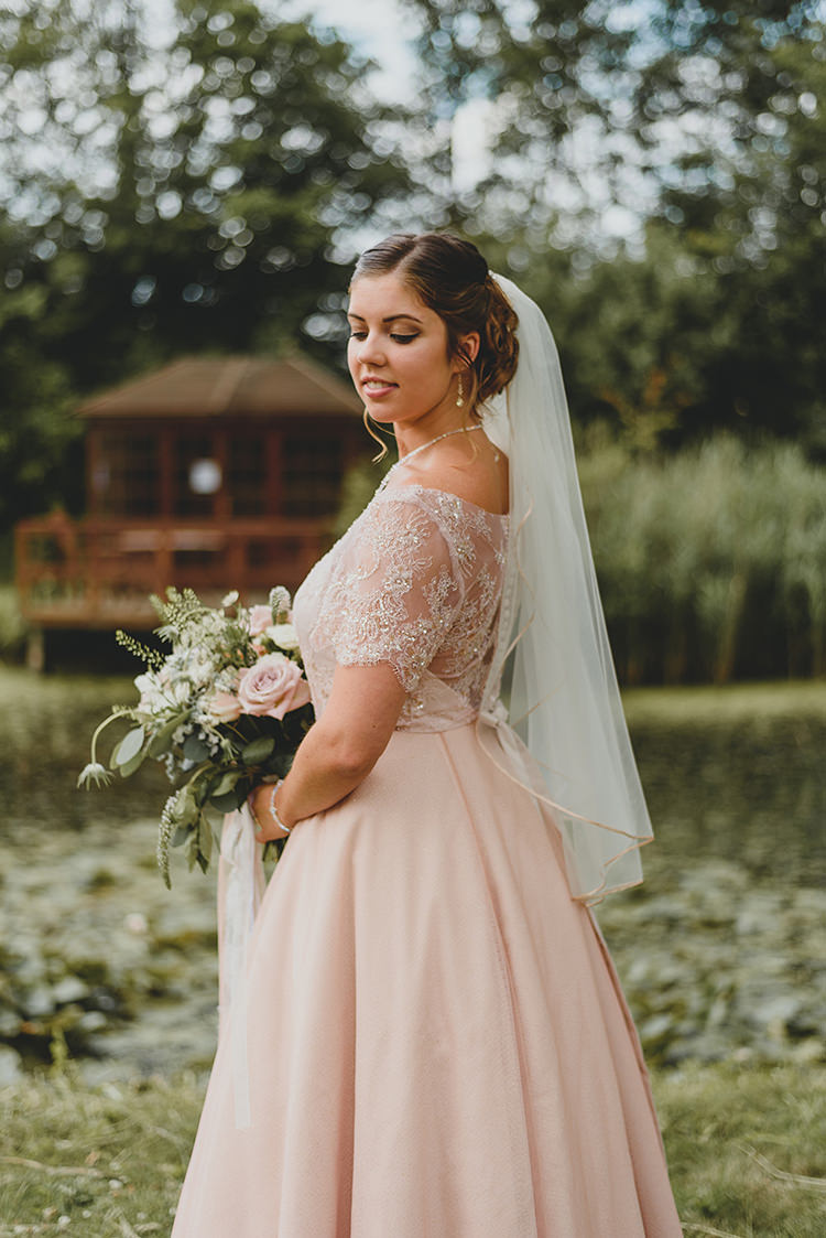 Blush Pink Dress Gown Bride Bridal Vintage Retro Inspired Pastel Wedding https://www.georgiarachael.com/