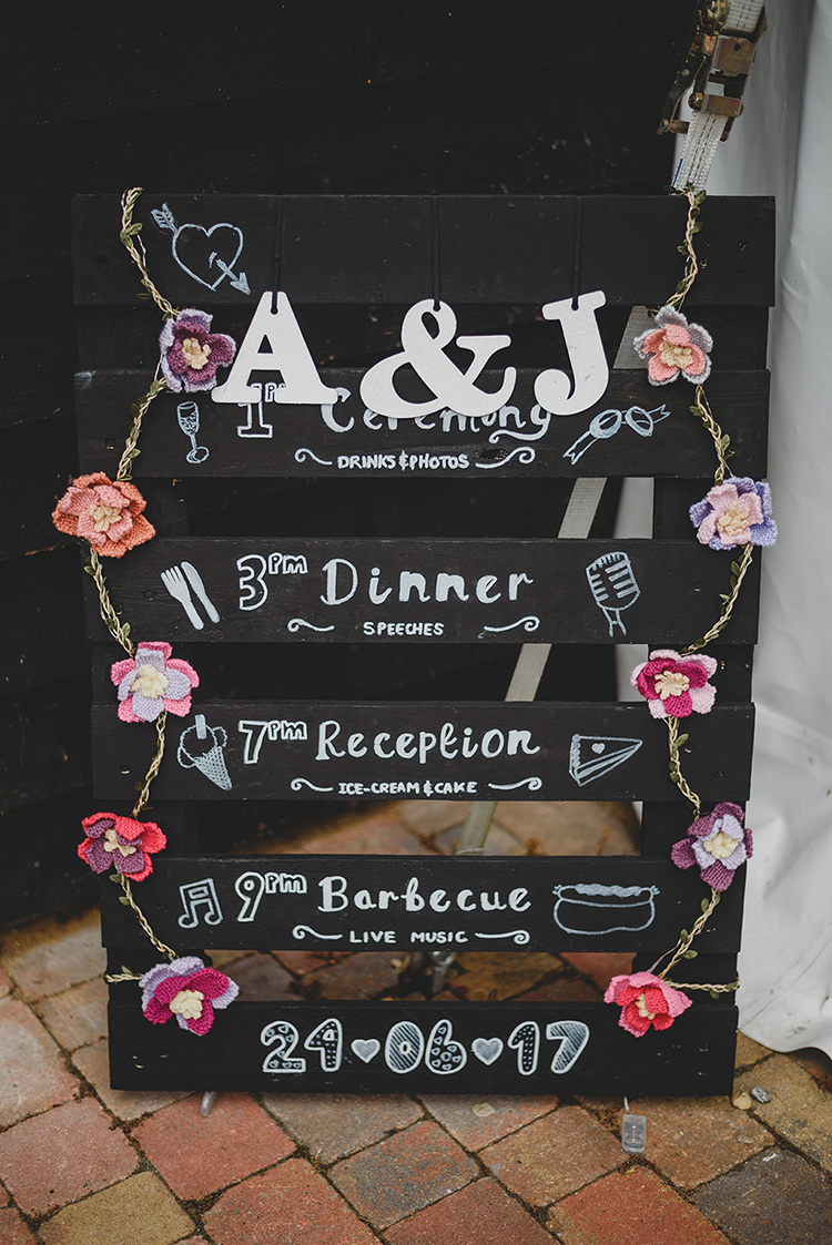 Wooden Pallet Black Chalk Board Sign Vintage Retro Inspired Pastel Wedding https://www.georgiarachael.com/