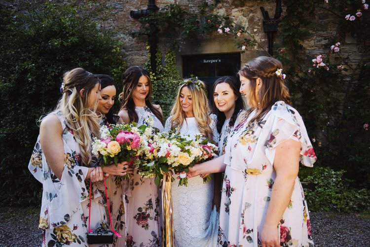 Floral Bridesmaid Dresses Bohemian Creative Summer Barn Wedding http://www.pocketsquarephotography.com/