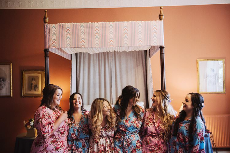 Floral Dressing Gowns Bride Bridal Bridesmaid Bohemian Creative Summer Barn Wedding http://www.pocketsquarephotography.com/