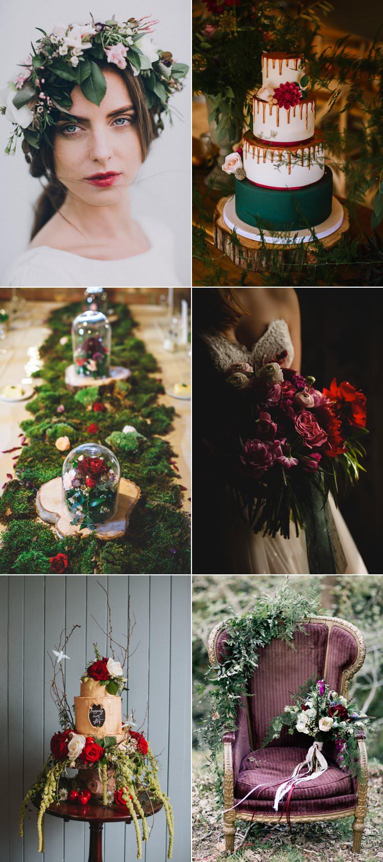 Christmas Green Red Wedding Ideas Festive