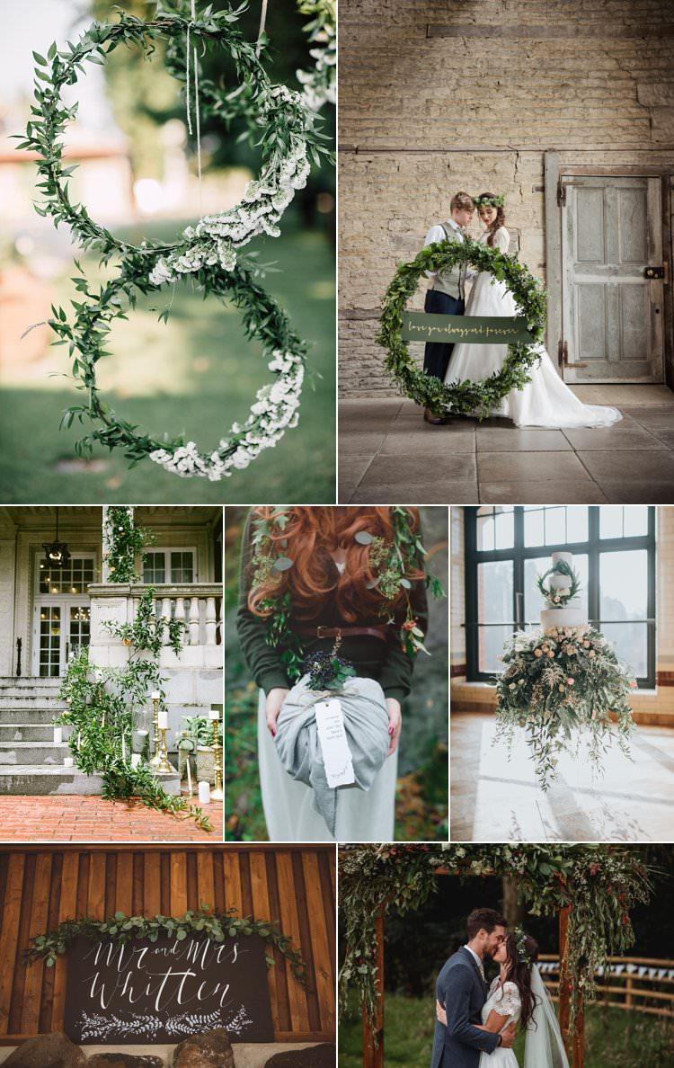 Christmas Wedding Ideas Greenery Rustic