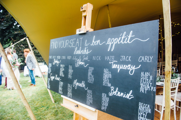 Black Chalk Board Seating Plan Table Chart Whimsical Stylish Burgundy Rose Gold Tent Wedding https://www.jakemorley.co.uk/
