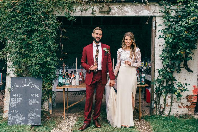 Gin Bar Station Drinks Whimsical Stylish Burgundy Rose Gold Tent Wedding https://www.jakemorley.co.uk/