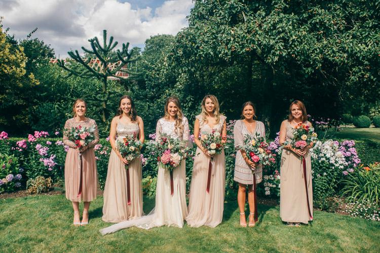 Mismatched Blush Bridesmaid Dresses Whimsical Stylish Burgundy Rose Gold Tent Wedding https://www.jakemorley.co.uk/