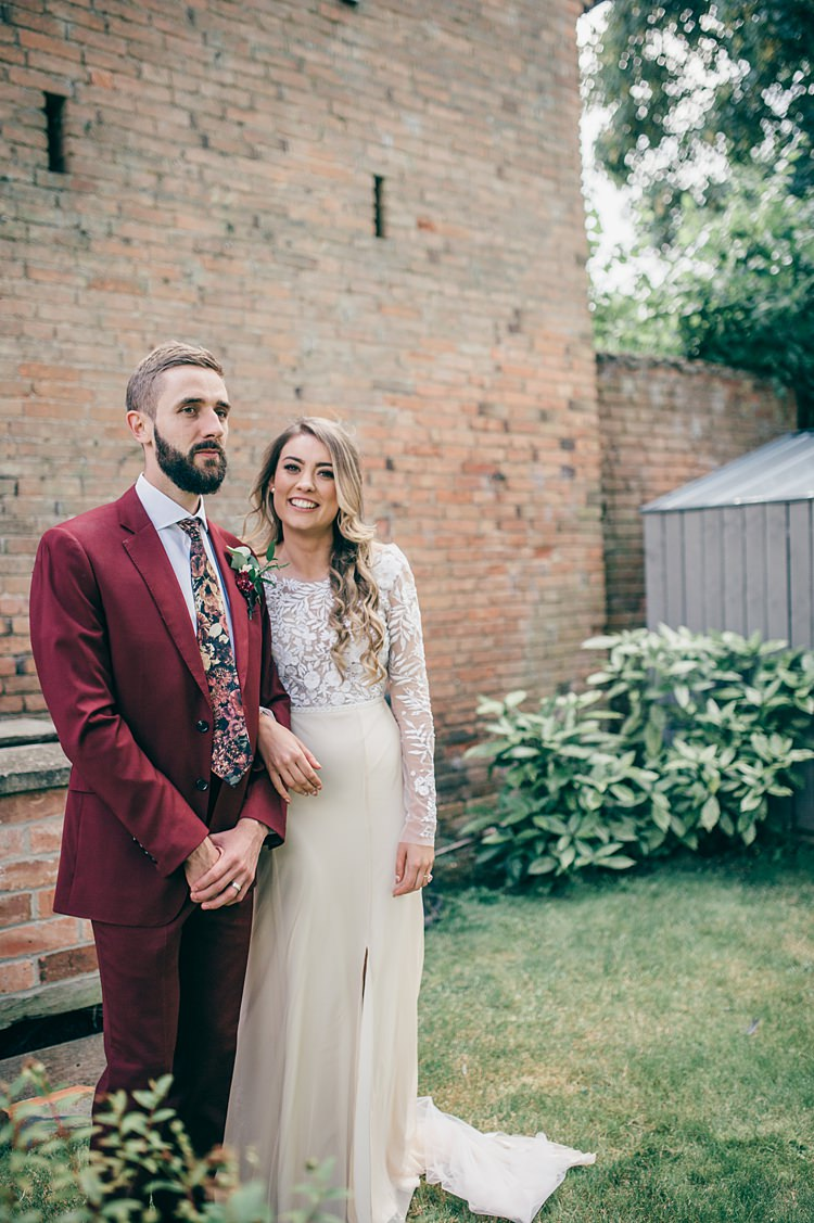 Hermione de Paula Dress Gown Bride Bridal Embroidered Sleeves Whimsical Stylish Burgundy Rose Gold Tent Wedding https://www.jakemorley.co.uk/