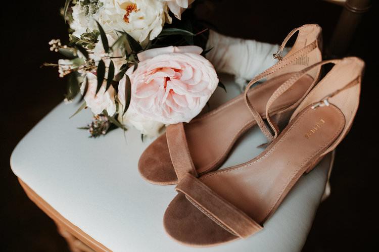 Outdoor Rustic Boho Nude Bridal Shoes Romantic Blush Bouquet | Organic Earthy Fun Wedding Oklahoma http://zaynewilliams.com/