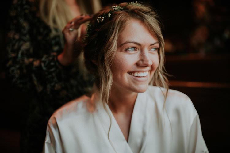 Outdoor Rustic Boho Updo Natural Simple Flower Crown Blonde Bride | Organic Earthy Fun Wedding Oklahoma http://zaynewilliams.com/