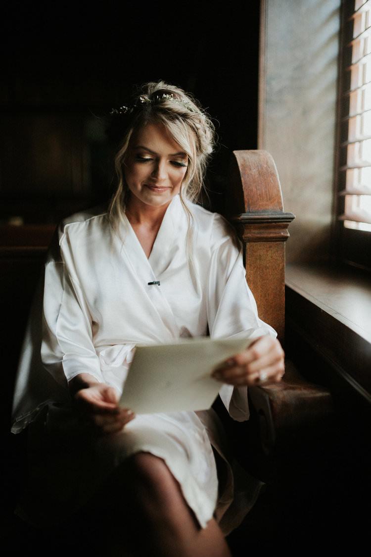 Rustic Boho Updo Natural Simple Flower Crown Bride Letter Morning | Organic Earthy Fun Wedding Oklahoma http://zaynewilliams.com/