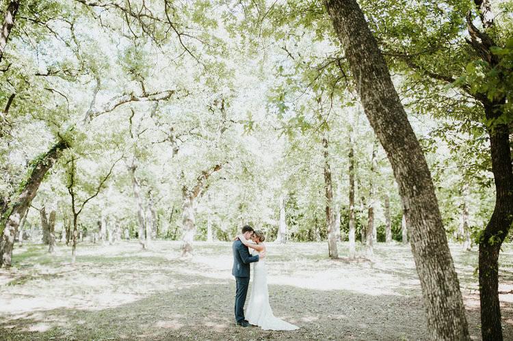 Outdoor Rustic Boho Forest First Look Bride Groom Morning Embrace | Organic Earthy Fun Wedding Oklahoma http://zaynewilliams.com/