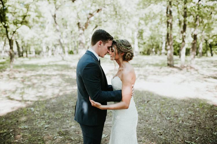 Outdoor Rustic Boho Forest First Look Bride Groom Morning Alone Embrace | Organic Earthy Fun Wedding Oklahoma http://zaynewilliams.com/