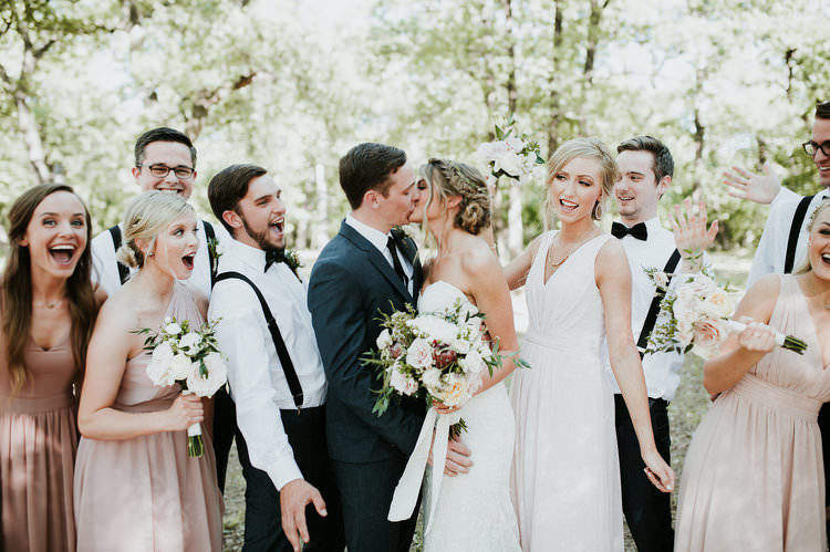 Outdoor Rustic Boho Kiss Blush Bridesmaids Navy Groomsmen White Bouquets | Organic Earthy Fun Wedding Oklahoma http://zaynewilliams.com/