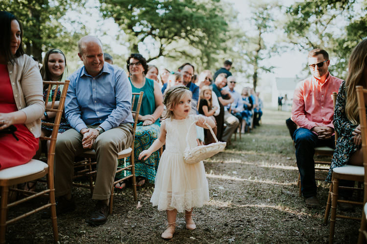 Outdoor Rustic Boho Forest Ceremony Flower Girl Blush Dress Basket | Organic Earthy Fun Wedding Oklahoma http://zaynewilliams.com/