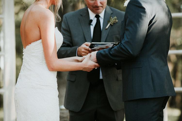 Outdoor Rustic Boho Forest Ceremony Rings Bride Groom Celebrant | Organic Earthy Fun Wedding Oklahoma http://zaynewilliams.com/