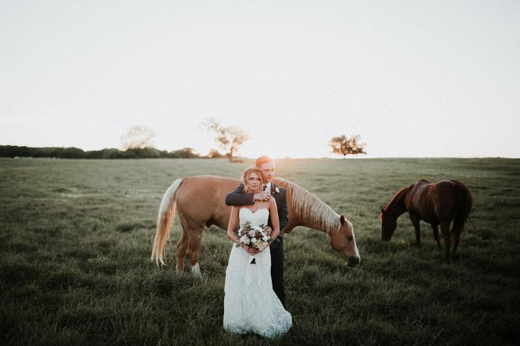 Outdoor Rustic Boho Forest Field Sun Natural Bride Groom Wild Horses | Organic Earthy Fun Wedding Oklahoma http://zaynewilliams.com/