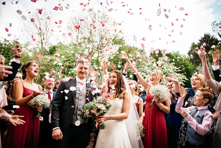 Confetti Throw Red Rustic Spring Barn Wedding http://www.jennymacare.com/