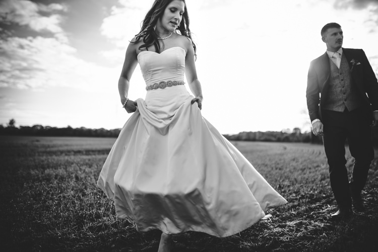 Sassi Holford Dress Gown Bride Bridal Strapless Red Rustic Spring Barn Wedding http://www.jennymacare.com/
